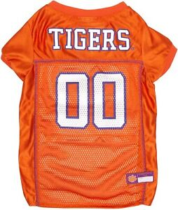 Clemson Tigers Dog Jersey - LARGE - Orange - Official NCAA - Pets First - NWT