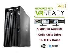 HP Z820 4K VR Ready Gaming Computer PC NVIDIA GTX1080 64GB RAM 512GB SSD 2TB HDD