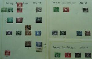 GB fine m&u collection pre-decimal Postage Dues, 1914-1969 on album pages