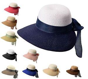 Miuno® Damen Strohhut Sonnenhut Sommer Frauen Hut mit Schleife H51055