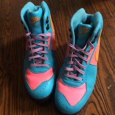 Men's Nike Air Retro Safety Orange Bright Blue Neon Pink Sz 9 Club Shoes