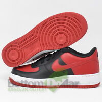 Nike 596729-016 Force 1 (PS) Kids Low Top Shoes Black/Gym Red-White