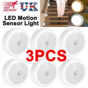 3pcs Self-Adhesive Sensor Motion Lights PIR LED Battery Cabinet Stair Night Lamp
