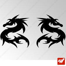 Sticker Dragon Tribal 102x88mm 2x Peganitas adesivi autocollant - TRIB045