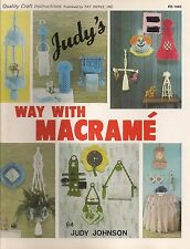 Craft Book: #PD1045 Judy's Way With Macrame - Over 40 Patterns