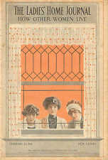 C. Coles Phillips, Pretty Ladies In Window, 1911 Antique, Art Print, Cover Only.