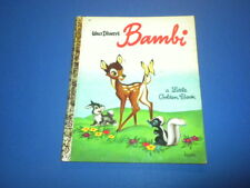 BAMBI - WALT DISNEY -  A Little Golden Book VINTAGE 1960's edition D90