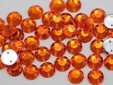 10mm SS46 Orange Hyacinth H125 Sew On Rhinestones - 70 Pieces