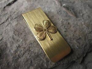 GOLD IRISH SHAMROCK GOLD PLATED BRASS MONEY CLIP - FATHER'S DAY - CLADDAGH