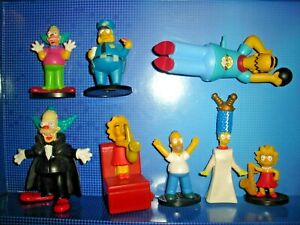 RARE THE SIMPSONS FIGURE LOT WIND UP BOWLING HOMER MARGE KRUSTY LISA COP FOX