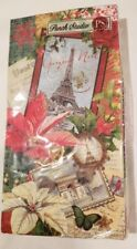 NWT Punch Studio Parisian Holiday Christmas 16-Count Paper Napkins Guest Towels