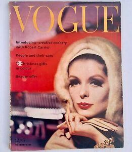 1961 November VOGUE 60s vintage fashion magazine beauty lingerie adverts LFW
