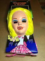 Vintage 1989 Ben Cooper Superstar Barbie Halloween Costume & Mask With Box