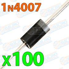 Diodo rectificador 1N4007 1000v 1A - Lote 100 unidades - Electronica Arduino DIY