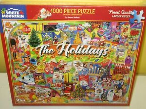 New White Mountain ~ The Holidays  ~ 1000 Piece Puzzle