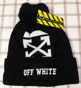 NWT Off White Women Men Beanie Hat Unisex Packable Winter Cap