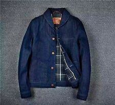 Vintage Workwear Style Shawl/Apple Lapel Slim Fit Denim Jacket  Size XS-XL