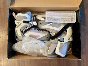 Bladerunner Dazzle Ice Skates Pink Grey Youth Size Adjustable US 3-4-5-6