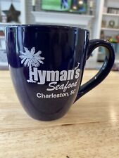 Hymans Best Seafood In Charleston South Carolina Blue Coffee Cup Mug