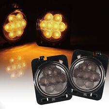 JAHY For Jeep Wrangler JK 07~16 Fender Flares Wheel Trims Turn Signal LED Lights
