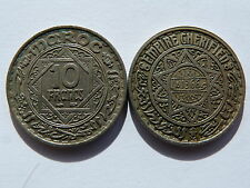 Pièce monnaie MAROC MORROCO 10 francs 1366 état voir scan