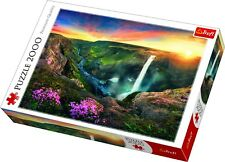 Trefl 2000 Piece Adult Large Image Haifoss Waterfall Iceland Jigsaw Puzzle NEW