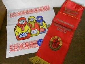 Seltener Plastebeutel Dsf Deutsch-Sowjetische Friendship Gst Ehrenschleife GDR