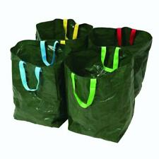 4 Silverline Recycling Bags 40x32x32cm Green Colour-Coded Waterproof, Tear-Proof