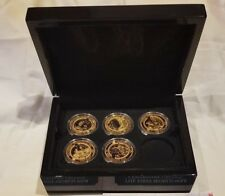 BRADFORD EXCHANGE THE FIRST WORLD WAR CENTENARY CROWN COINS COLLECTION 24KT GOLD