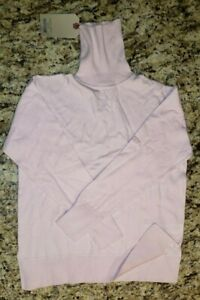 NWT Zara Knit Kids Soft Pink Solid Turtleneck Long Sleeve Size 11-12 Years