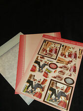 HUNKYDORY SHOP TILL U DROP & COFFEE/CAKE TOPPERS & BACKING CARD SET X 3 SHEETS