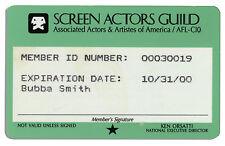 Bubba Smith Screen Actors Guild Card