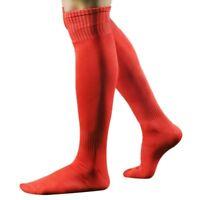 Maenner Sport Fussball Lange Hohe Socken Fussballsocken Struempfe (rot) C1S4