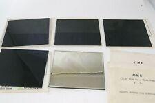 """Lot Glass Welding Helmet Filter Plates Shade #10 4-1/2"""" x 5-1/4"""" Gold Clear"""