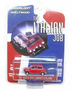 1/64 Greenlight 1967 Austin Mini Cooper S 1275 MK1 Red The Italian Job Neuf