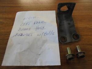 01-02 HONDA CIVIC REAR LEFT BRAKE HOSE BRACKET USED WITH BOLTS
