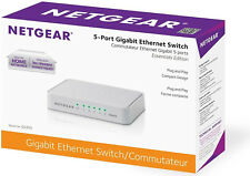 Netgear Ethernet Switch 5 Port 10/100/1000 Mbps Desktop Network LAN Hub Splitter