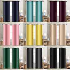 52in Width Window Curtains Blackout Thermal Insulated Grommet Drapes 2 Panels