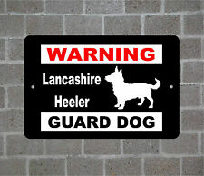 Lancashire Heeler warning Guard Dog breed metal aluminum sign