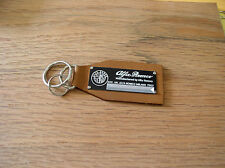 Alfa Romeo Data Plate Leather Keychain Spider Veloce 164 8C GTV6 Giuletta Sprint