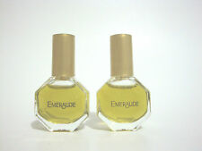 EMERAUDE COTY PERFUME WOMEN LOT OF 2 X MINI BOTTLE 1/8 OZ PARFUM UB