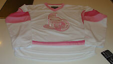 Ottawa Seantors NHL Hockey Pink White Jersey Youth Age 14 Girls Large Ladies