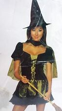 WICKED WITCH OF THE WEST HALLOWEEN COSTUME, DRESS CAPE HAT, SIZE M, MSRP $49.99