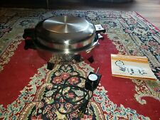 SOCIETY  REGAL WARE LIQUID CORE ELECTRIC SKILLET W/ DOME LID K7260 TESTED WORKS