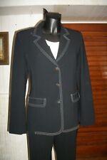 tailleur Pantalon/blazer MARINA RINALDI MAX MARA 23 36/38fr noir surpiqué MA1