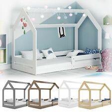 Kinderbett mit Rausfallschutz Hausbett Haus Holz Bettenkauf 160x80cm