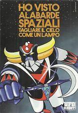 UFO ROBOT GOLDRAKE: cartolina Promocard