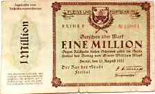 1923 Germany FRIETAL 1.000.000 / 1 Million Mark Banknote