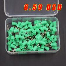 100 Pcs Dental Rubber Prophy Tooth Polish Polishing Cups Brush Latch Type Green