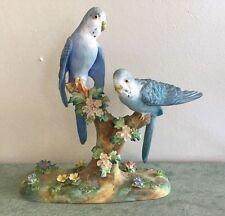 Staffordshire English Porcelain Birds Figurine – JT Jones Budgerigar 1 signed